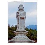 Estatua de Buda en la Corea del Sur, Asia Tarjeta De Felicitación