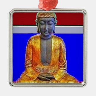 Estatua de Buda en oro por Sharles Adorno Cuadrado Plateado