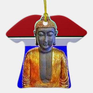 Estatua de Buda en oro por Sharles Adorno De Cerámica En Forma De Playera