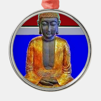 Estatua de Buda en oro por Sharles Adorno Redondo Plateado
