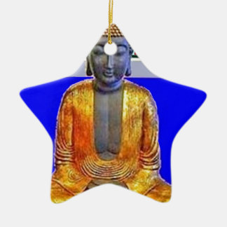 Estatua de Buda en oro por Sharles Adorno De Cerámica En Forma De Estrella