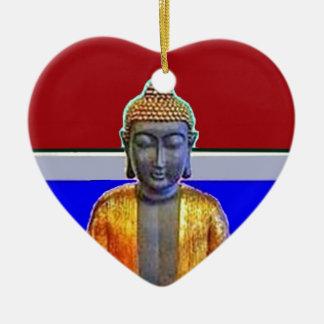 Estatua de Buda en oro por Sharles Adorno De Cerámica En Forma De Corazón