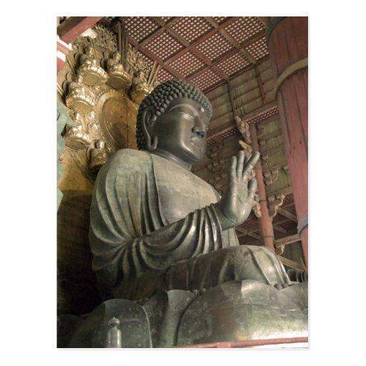 Estatua de Buda Todaiji Nara Japón. Esto se aplica Tarjetas Postales