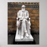 Estatua de Charles Darwin Posters
