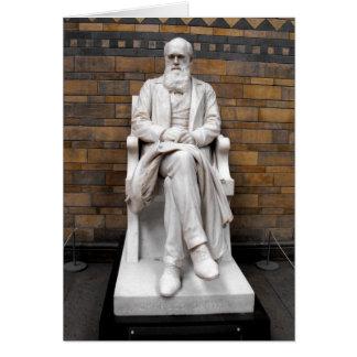 Estatua de Charles Darwin Tarjeta De Felicitación