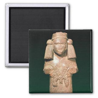 Estatua de Coatlicue, de la tierra antigua y de la Imán Cuadrado