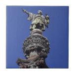 Estatua de Columbus, Barcelona Azulejo