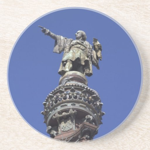 Estatua de Columbus, Barcelona Posavasos Para Bebidas