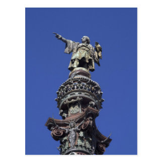 Estatua de Columbus, Barcelona Tarjeta Postal
