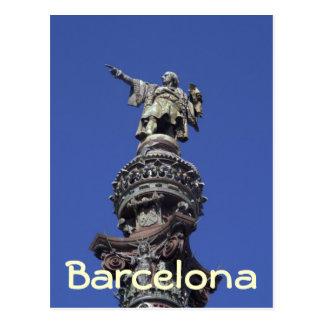 Estatua de Columbus, Barcelona Postal