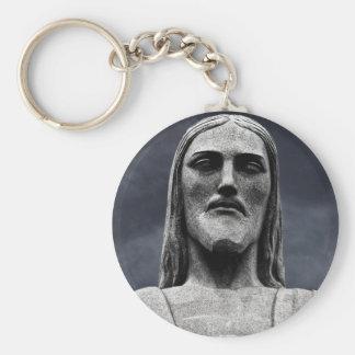 Estatua de Cristo Redentor Llavero Redondo Tipo Pin
