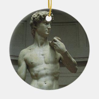 Estatua de David de Miguel Ángel Adorno Navideño Redondo De Cerámica