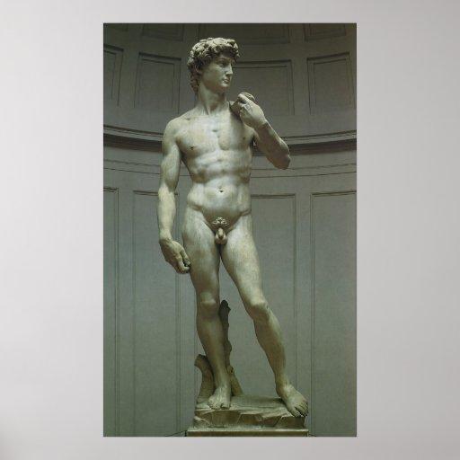 Estatua de David de Miguel Ángel Póster