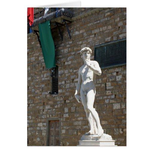 Estatua de David en el Palazzo Vecchio Felicitaciones