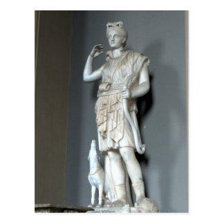 Estatua de Diana Artemis en el Vatican en Roma Postal