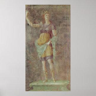 Estatua de Diana, de Pompeya, c.50-59 Poster