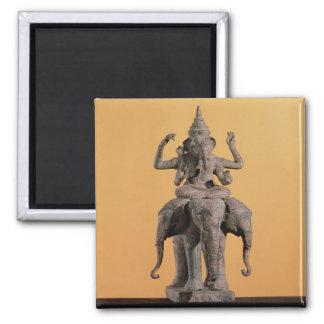 Estatua de dios hindú Ganesh Imán Cuadrado