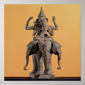 Estatua de dios hindú Ganesh Poster