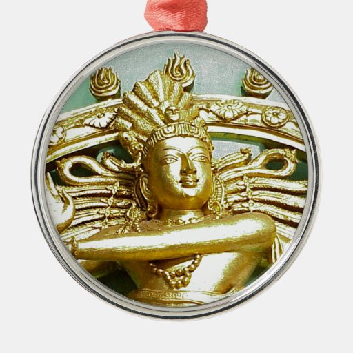 Estatua de dios hindú Shiva Adorno Navideño Redondo De Metal