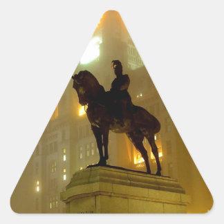 Estatua de Edward V11, cabeza del embarcadero, Pegatina Triangular