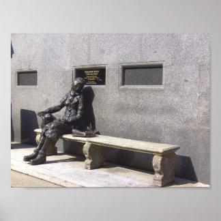 Estatua de Eleanor Rigby, Liverpool, Reino Unido Póster