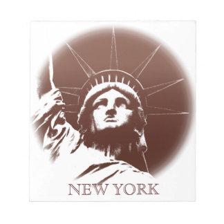 Estatua de encargo de la libreta de Nueva York del Libretas Para Notas