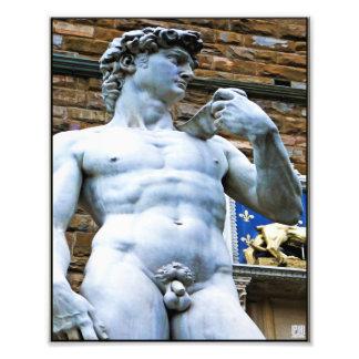 Estatua de Florencia de David con cita del amor Fotografía