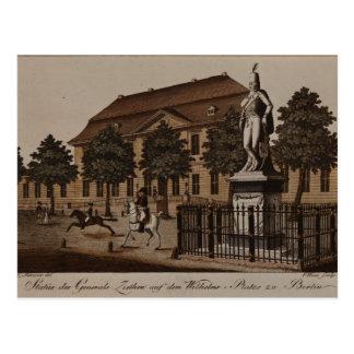 Estatua de general von Ziethen en Wilhelm Platz Tarjeta Postal