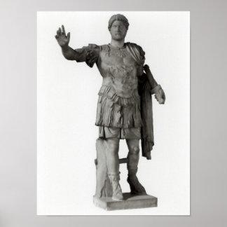 Estatua de Hadrian (mármol Póster