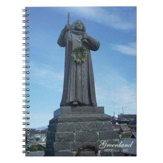 Estatua de Hans Egede Cuaderno