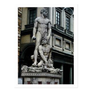Estatua de Hércules y de Cacus, postal de Florenci