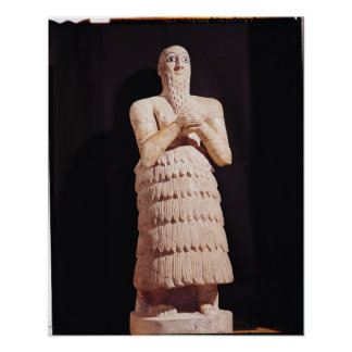 Estatua de Itur-Shamagen, rey de marcha Poster