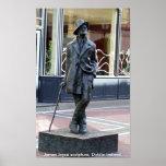 Estatua de James Joyce, Dublín Irlanda Póster