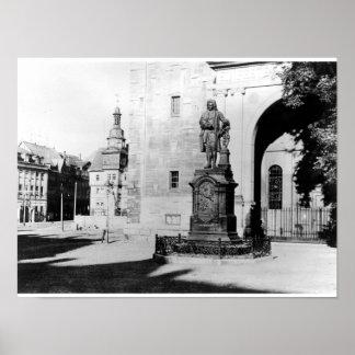 Estatua de Johann Sebastian Bach Poster