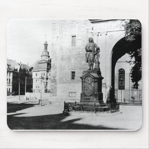 Estatua de Johann Sebastian Bach Tapetes De Ratón