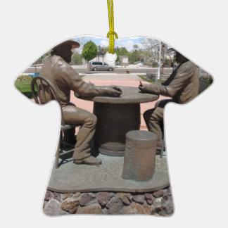 Estatua de juego del vaquero adorno de cerámica en forma de playera