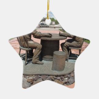 Estatua de juego del vaquero adorno de cerámica en forma de estrella