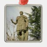 Estatua de Julio César Adorno Navideño Cuadrado De Metal