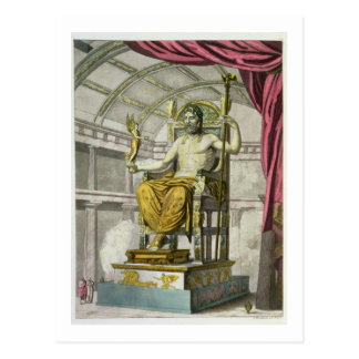 Estatua de Júpiter en un templo, del 'dei R de Postal