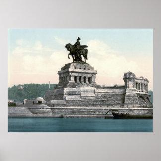 Estatua de Kaiser Wilhelm I Póster