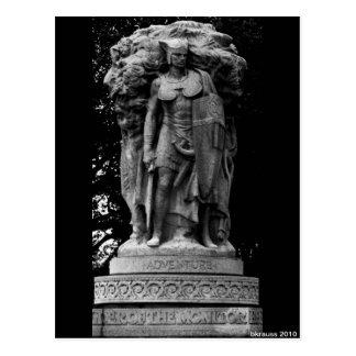 Estatua de la aventura, C.C. de Washington Tarjeta Postal