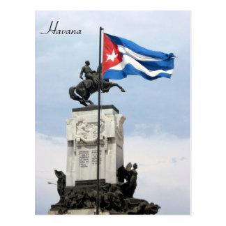 estatua de la bandera de La Habana Postales