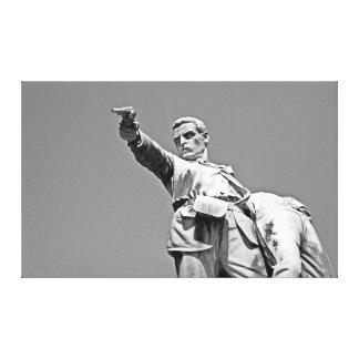 Estatua de la batalla de Mentana Impresión En Lienzo