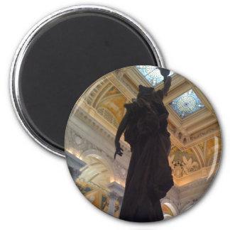 Estatua de la Biblioteca del Congreso Imán Redondo 5 Cm