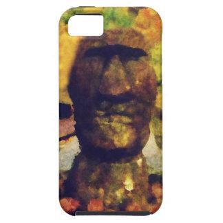 Estatua de la cabeza de la isla de pascua iPhone 5 fundas