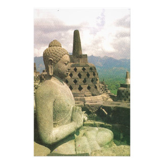 Estatua de la campana de Buda, templo de Borobodur Papeleria