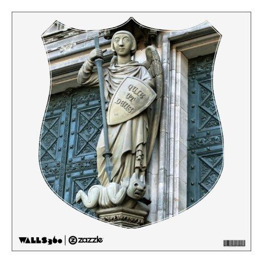 Estatua de la catedral de Colonia Vinilo Decorativo