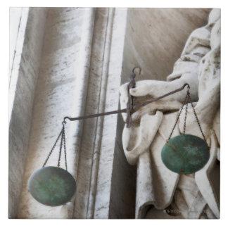 Estatua de la Ciudad del Vaticano Azulejo Cuadrado Grande