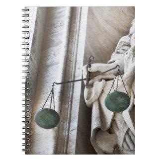 Estatua de la Ciudad del Vaticano Libro De Apuntes Con Espiral