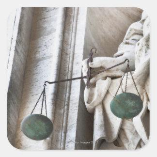Estatua de la Ciudad del Vaticano Calcomanía Cuadradas Personalizadas
